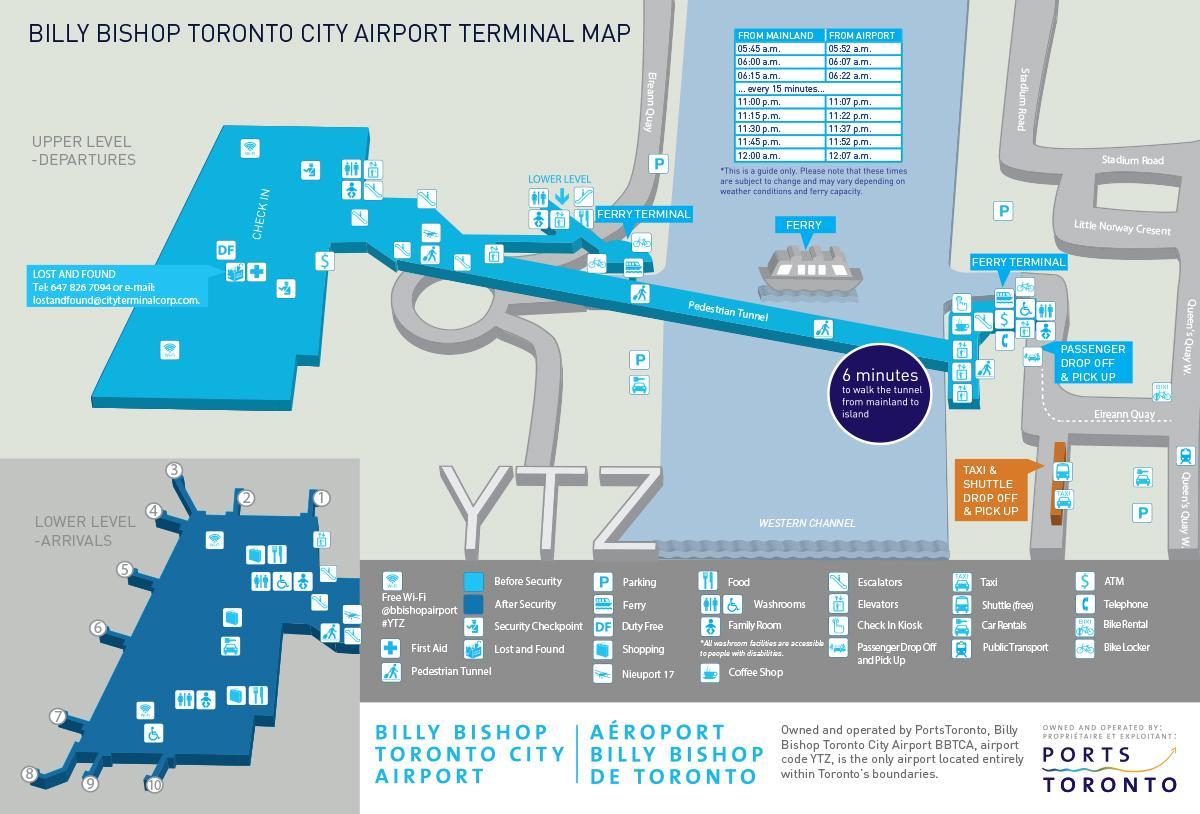 Carte Canada Aeroport.Plan Aeroport Billy Bishop Toronto Carte Aeroport Billy