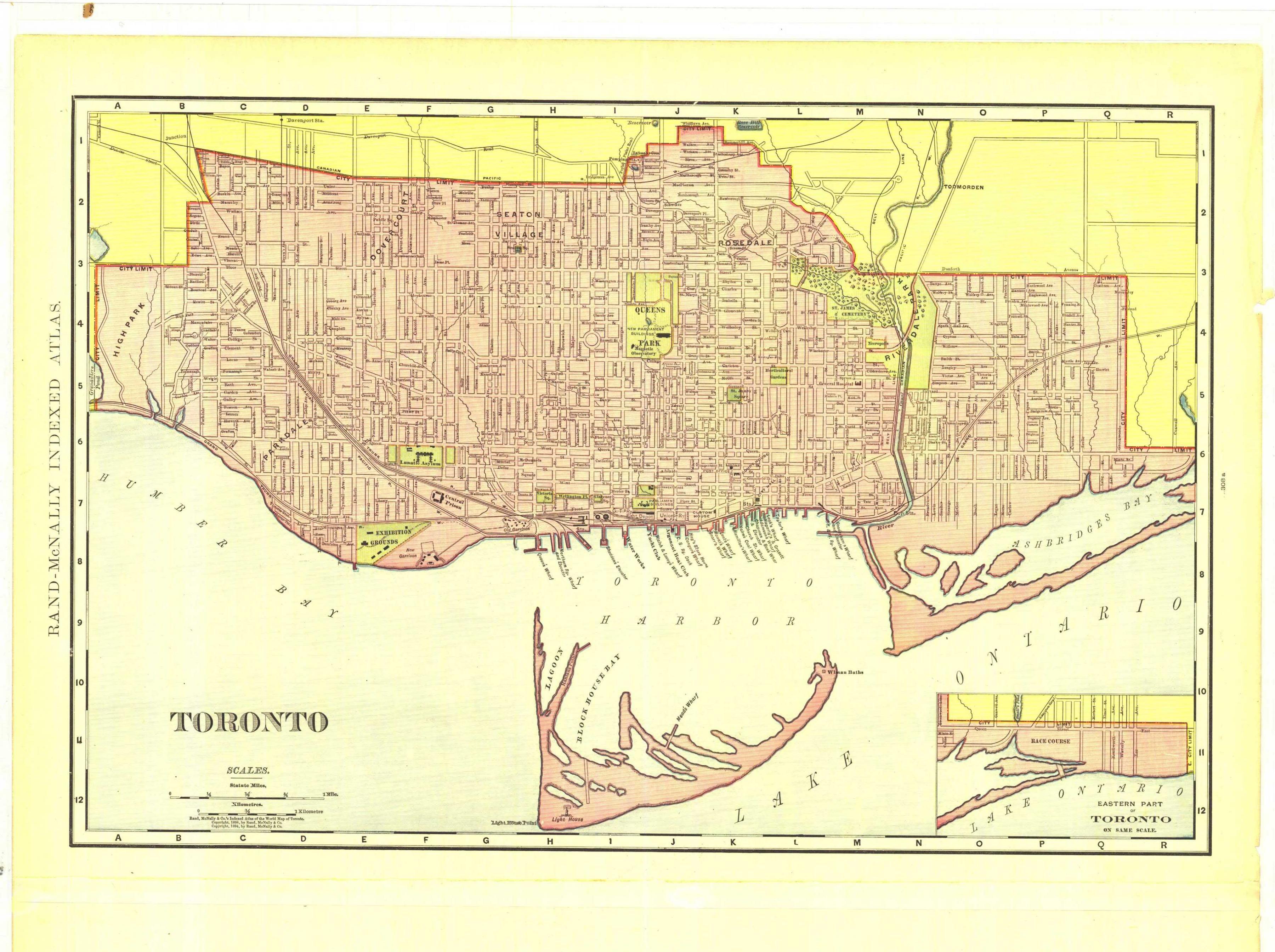 Carte Historique Canada.Plan Historique De Toronto Carte Historique De Toronto