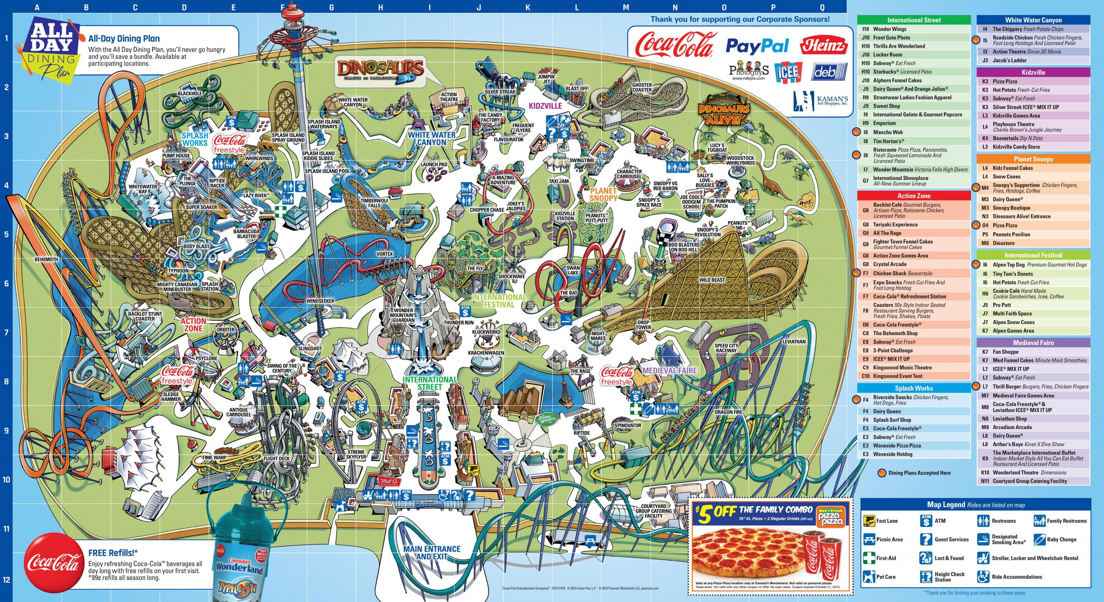 Plan Wonderland Toronto - Carte Wonderland Toronto (Canada)